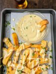 3-cheese beer sauce