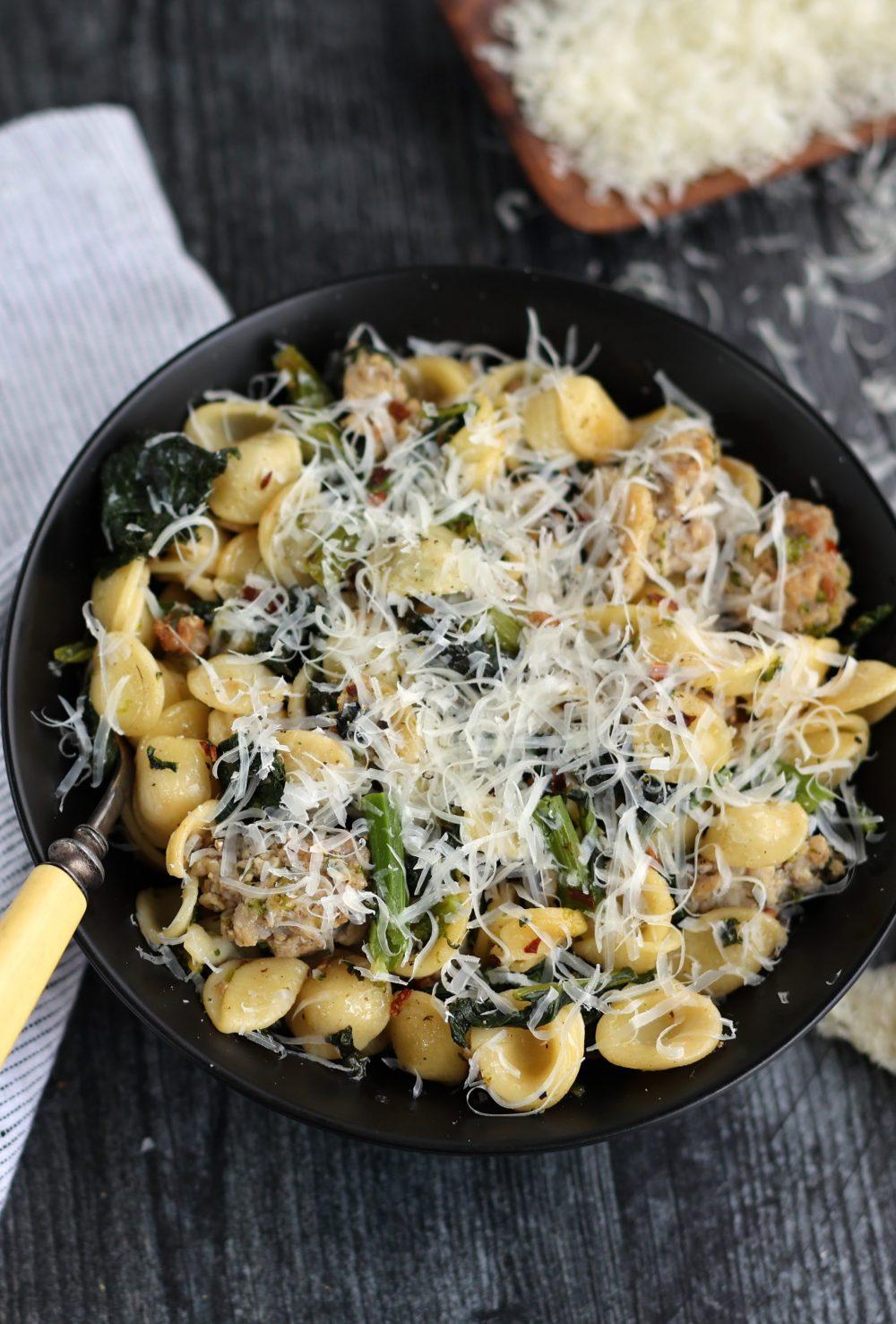 Orecchiette with Broccoli Rabe and Sausage