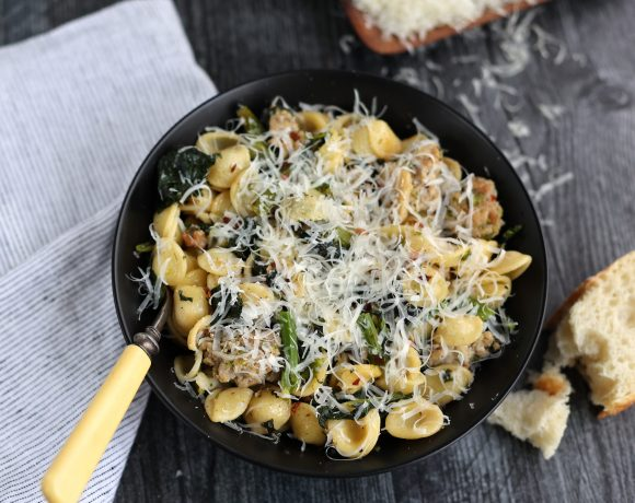 Orecchiette with Broccoli Rabe and Sausage