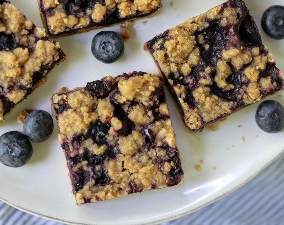 Blueberry Crumble Pie Bar